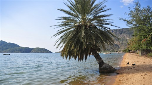 Vakre strender ved Cape Maclear, Lake Malawi