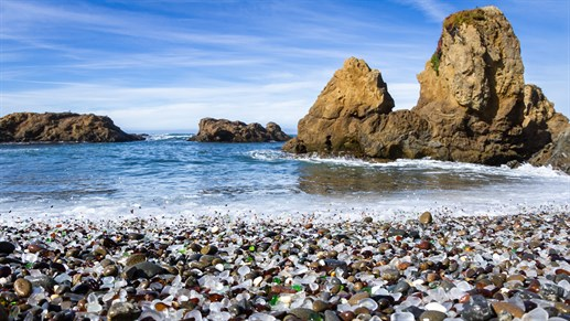 Glass Beach, Fort Bragg, USA