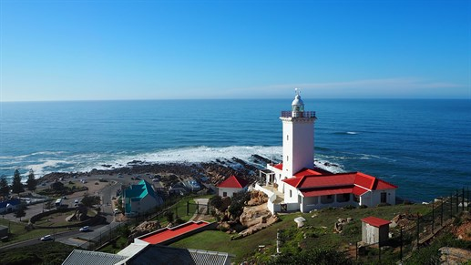 Pinnacle Point & St. Blaize fyrtårn i Mossel Bay