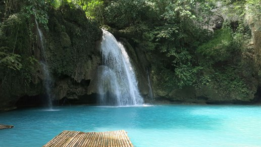 Moalboal Cebu Tropical Waterfall